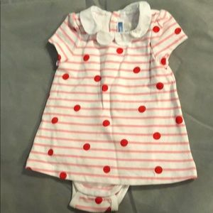 Jacadi polka dot striped dress